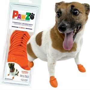PAWZ rubber dog boot for dogs Extra small